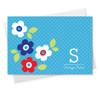 Original Custom Stationery Cards | Light Blue Charming Flowers