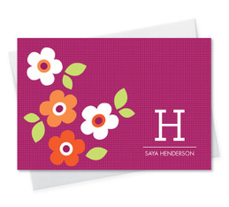 Awesome Personalized Note Cards And Stationery | Pink Charming Flowers