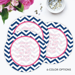 Chevron and Initials Label Set