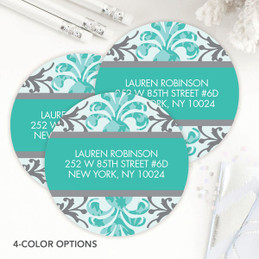 Damask Style Label Set