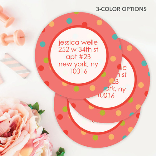 Colorful Dots Label Set