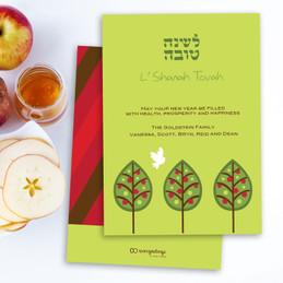 Three Pomegranate Trees Card