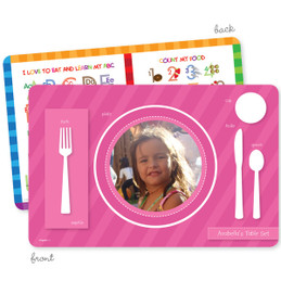 My own girl table set pink
