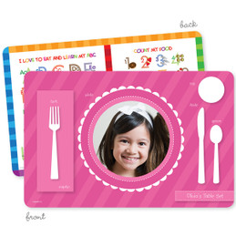 My own girl table set scallop pink