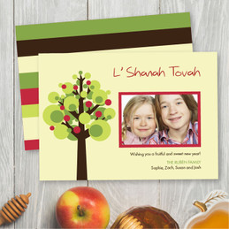 Personalized Rosh Hashanah Photo Cards | Mod Apple Tree