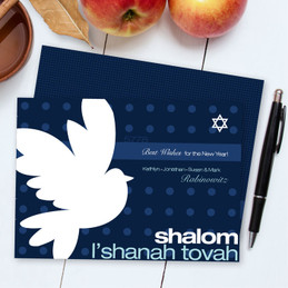 Jewish New Year Greeting Cards | Modern Peace Dove