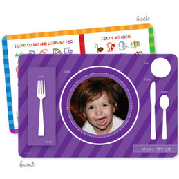 My own girl table set purple Kids Placemat