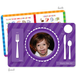 My own girl table set scallop purple Kids Placemat