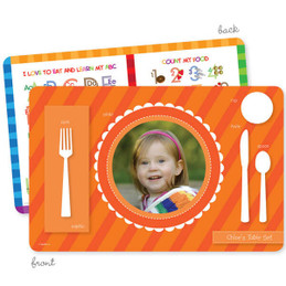 My own girl table set scallop orange Kids Placemat