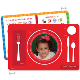 My own girl table set red Kids Placemat