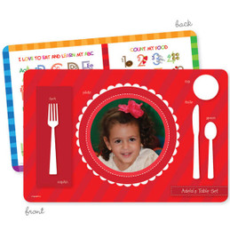 My own girl table set scallop red Kids Placemat