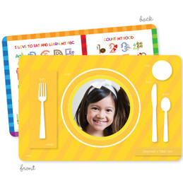 My own girl table set yellow Kids Placemat
