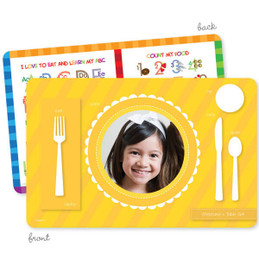 My own girl table set scallop yellow Kids Placemat