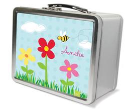 Spring Flowers Metal Lunchbox