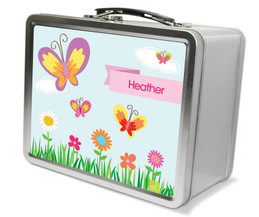 A Butterfly Field Metal Lunchbox