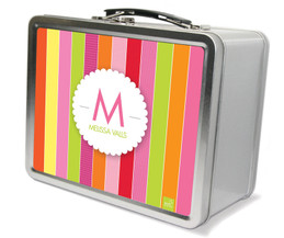 Bold & Fun Stripes Metal Lunchbox
