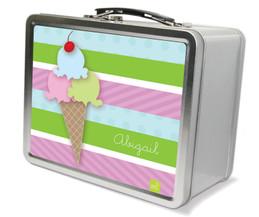 Yummy Ice Cream Metal Lunchbox