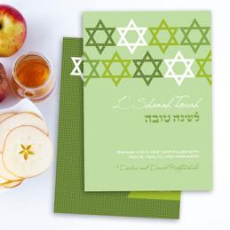 Personalized Rosh Hashanah Photo Cards | Stars Of David