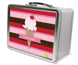 Strawberry Cone Metal Lunchbox