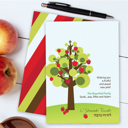 Jewish New Year Cards | Big Dotted Apple Tree