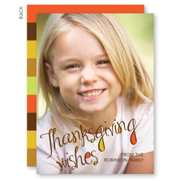 Thanksgiving Wishes Custom Thanksgiving Cards