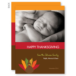 Turkey Wishes Personalized Thanksgiving Cards