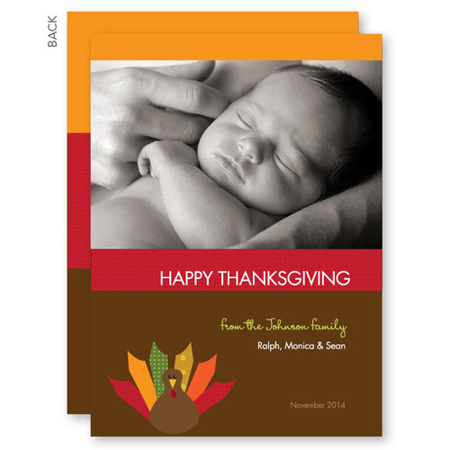 Custom Thanksgiving Cards   Turkey Wishes
