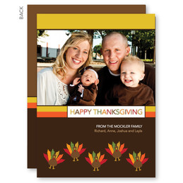 Turkeys And Turkeys Custom Thanksgiving Cards