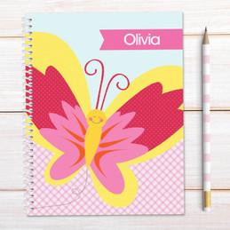 Smiley Butterfly Kids Notebook
