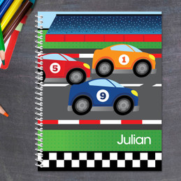 car race personalized notebook for kids
