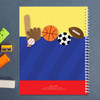 multiple sports personalized notebook for kids