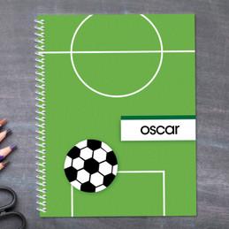 Soccer Fan Green Kids Notebook