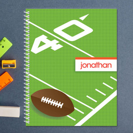 football field personalized notebook for kids