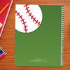 baseball field personalized notebook for kids