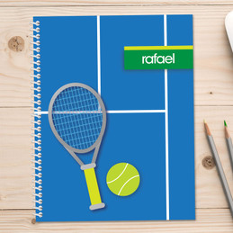 tennis fan personalized notebook for kids