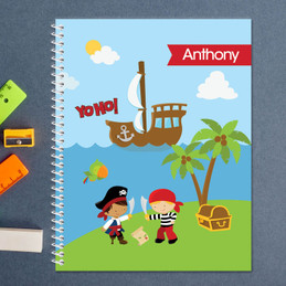 pirate boys personalized notebook for kids