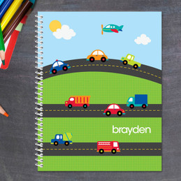 daily commute personalized notebook for kids