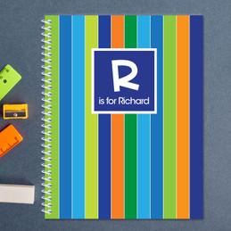 Bold Stripes Kids Notebook