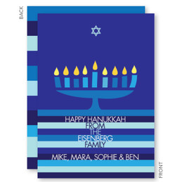 Hanukkah Menorah And Star Card