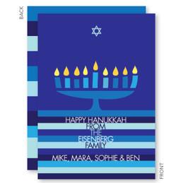 Hanukkah Menorah And Star Card