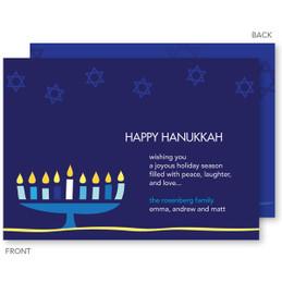 Hanukkah Menorah Card