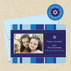 Shown with optional light blue envelope and matching return address label