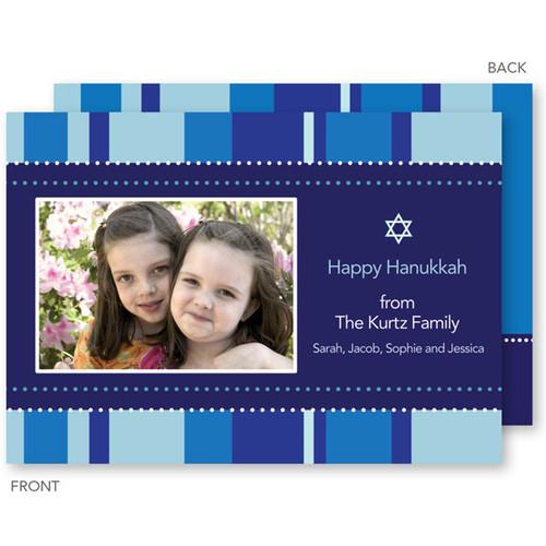 Happy Hanukkah Cards | Hanukkah Stripes