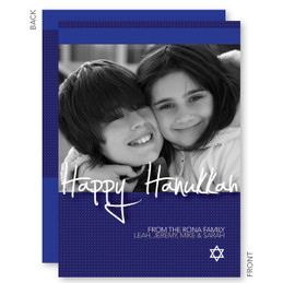 Hanukkah Star Card