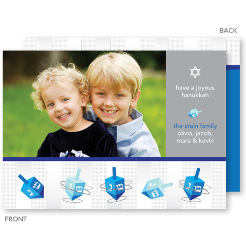 Hanukkah Greeting Cards | Spinning Dreidels