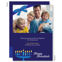 Hanukkah Greeting Card | Family Menorah