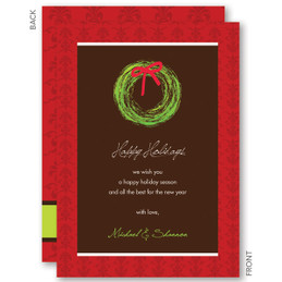 My Festive Wreath Christmas Cards