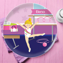 Gymnast On The Bars Kids Plates
