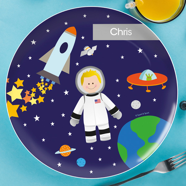 Astronaut To The Moon Kids Dinnerware By Spark Spark