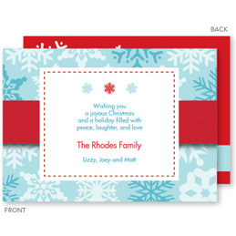 Falling Icy Snowflakes Christmas Cards